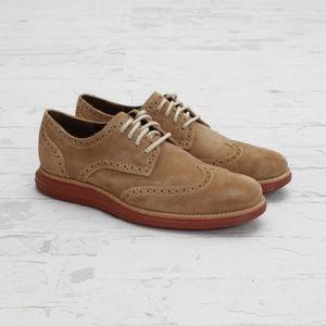 Cole Haan Wingtip Shoes Lunargrand Suede Sz 11